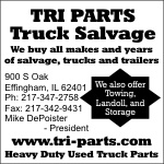 We buy all makes and years of salvage, trucks & trailers